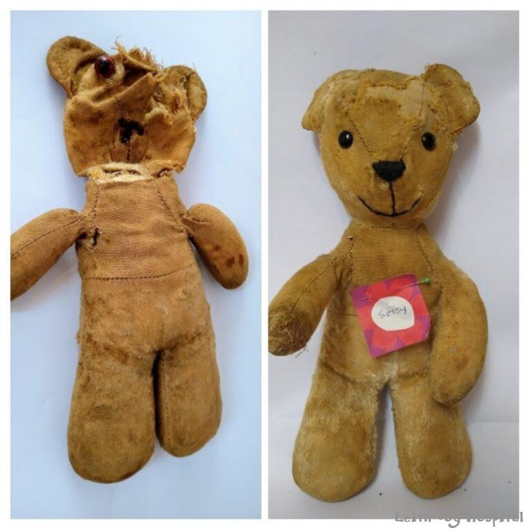 Teddy Restoration - before and after