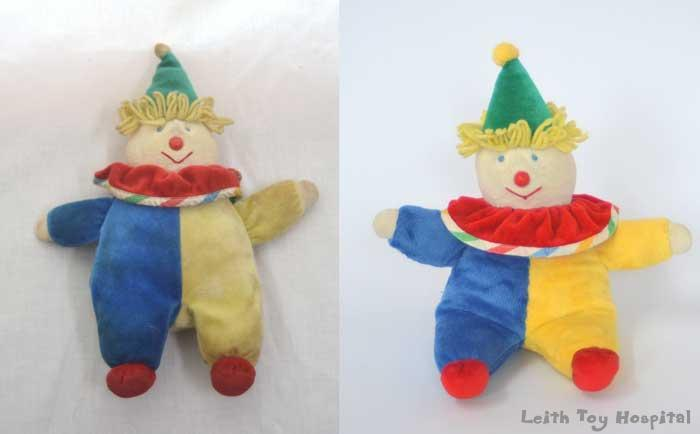 clown toy restoration