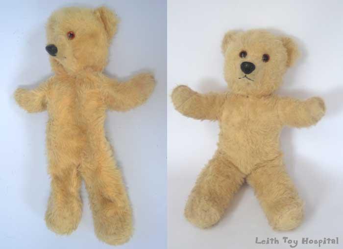 flat teddy restuffed