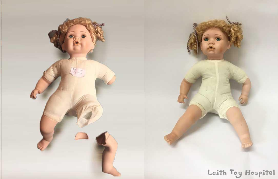Porcelain doll repair