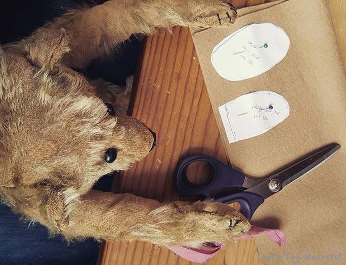 Teddy Repair - A Teddy Using a scissors